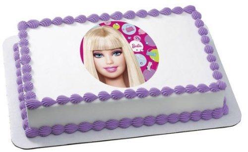 Superb Who Loves Cake Barbie Birthday Cake Personalised Birthday Cards Beptaeletsinfo
