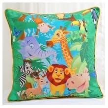 Swayam Kids N More Digital Print Mercerised Cotton Kids Cushion Cover Set - Multicolor (KCC 162-134)