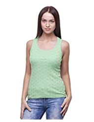 House Of Chase Women's Printed Tank Top - B00XHTWXQA