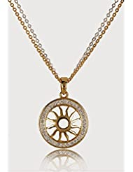 Estelle Gold Plated Pendant Set With Crystal For Women