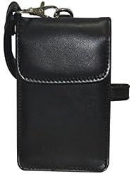 NAZ Unisex Black Leather Sling Bag
