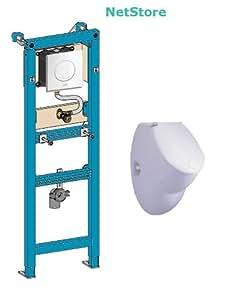 WISA Urinal Vorwandelement Excellent XS und Urinal Keramik