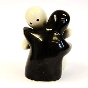 Die Umarmenden Salz-u.Pfefferstreuer Geister schwarz/weiß