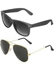 Zyaden COMBO Of Wayfarer Sunglasses & Aviator Sunglasses (Combo-9)