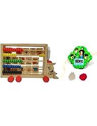 JaipurCrafts Combo Of Educational Toy Train & Kids Rakhi