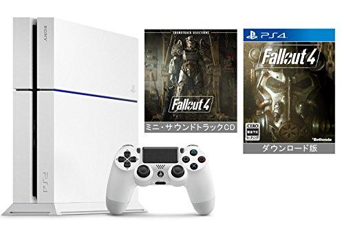 【Amazon.co.jp限定】PlayStation 4 グレイシャー・ホワイト (CUH-1200AB02) +ダウンロード版『 Fallout 4』本編 (ミニ・サウンドトラックCD付)