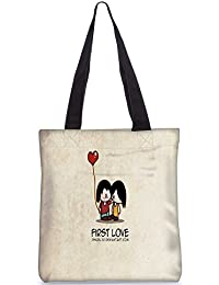 Snoogg First Love Digitally Printed Utility Tote Bag Handbag Made Of Poly Canvas
