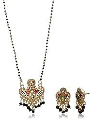 "Aakshi ""Sitaron Ki Mallika"" Designer Mangalsutra Chain Mala With Star-Shaped Meenakari Pendant With Intricate..."