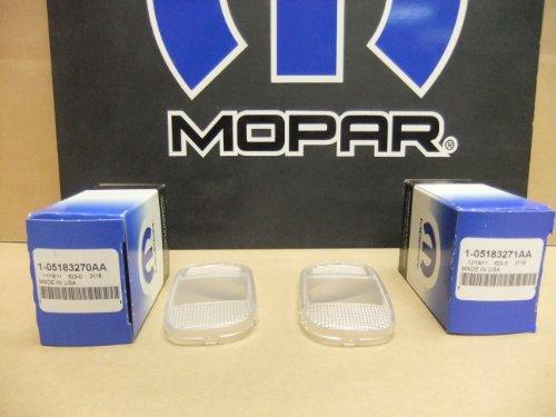 02-09 Dodge Ram Upper Console Interior Map Light Lamp Lens Set of 2 Mopar Oem