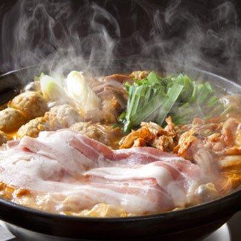 キムチ鍋セット 長崎産もち豚の豚バラスライス500g入 九州野菜7種類+スープ付き