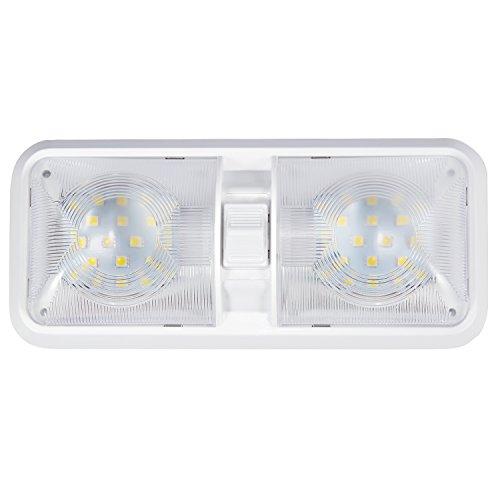 Kohree 12V Led RV Ceiling Dome Light RV Interior Lighting for Trailer Camper with Switch, White