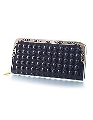 Mela Glossy Finish Non Leather Women`s Wallet-Black