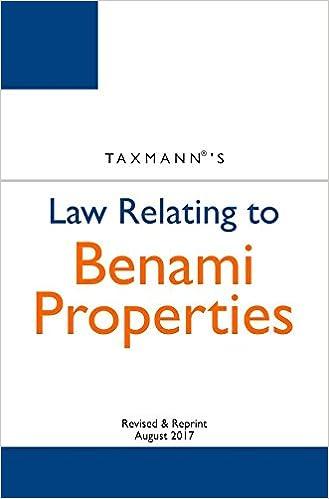 Law Relating to Benami Properties
