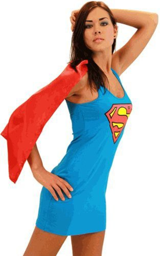 Superman Supergirl Blue & Red