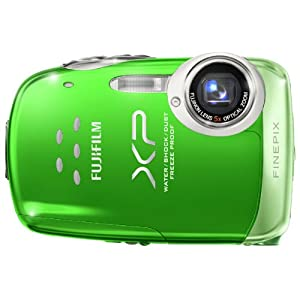 Fujifilm FinePix XP10 - Digital camera - compact - 12.2 Mpix - optical zoom: 5 x - supported memory: SD, SDHC - green