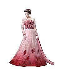 Get Up & Dress Latest Designer Pink Georgette Anarkali Suit Online Shopping