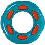 Outward Hound Splash Bombz Ring Rubber Dog Toy, Blue