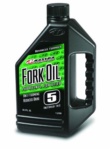Maxima 54901 5WT Standard Hydraulic Fork Oil - 1 Liter Bottle