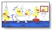 Soapy Duck Printed Rubber Tub Mat