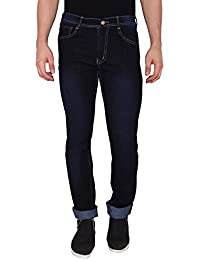 The Cotton Company Men's Stretch Slim Fit Blue Denim Jeans