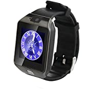 Fathers Day Gift GENORTH Bluetooth Smart Wrist Watch With SIM Card Slot Camera And Screen Protection Film For...