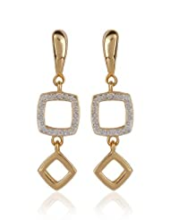 Estelle Gold Plated Danglig Earring With Crystals (454/710)