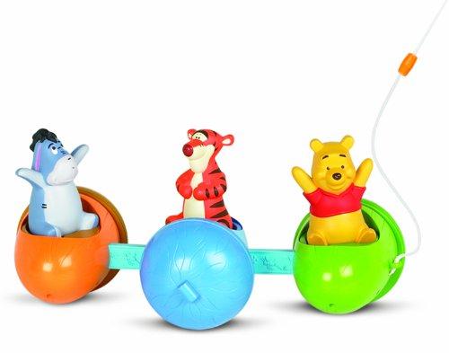 Funskool Tomy Winnie The Pooh Spin 'N' Play Acorn Train Pull Toy
