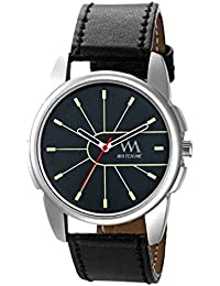Watch Me Formal Black Watch With Black Leather Strap For Men And Boys -228twm