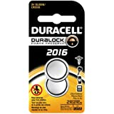 Duracell Dl2016 B2 Pk08 Lithium Coin Battery, 2016 Size, 3 V, 85 M Ah Capacity (Case Of 6 Cards, 2 Unit Per Card)