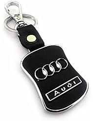 Techpro Premium Quality Leatherite Keychain With Audi Design