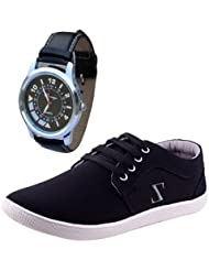 Delux Look Men's Black Casual Shoes