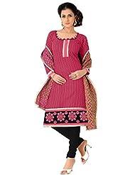 Vibes Straight Fit Cotton Designer Salwar Kameez - B00RRWV1O8