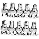 Banggood 10Pcs BNC Male To RCA Female Coax Coaxial Connector Adapter For CCTV Camera