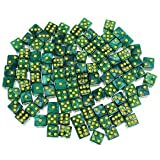 Alcoa Prime 100X 14mm D6 Dice Party Die For Activity, Casino Theme, Party Favors Green