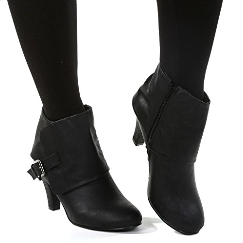 Twisted Women's Hailey Wide Width Cuffed Buckled Ankle ...