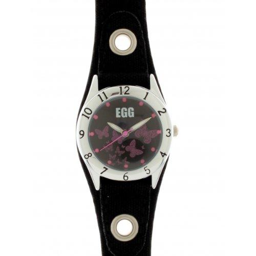 DDP Kinder-Armbanduhr Analog Quarz 4008832schwarz Lederband
