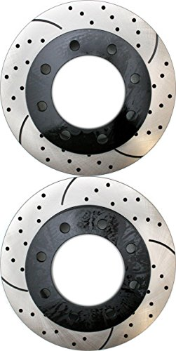 Prime Choice Auto Parts PR64126LR Performance Drilled and Slotted Brake Rotor Pair for Front