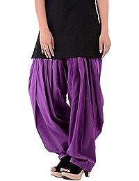 PurpleColor Women's Cotton Patiala Bottoms