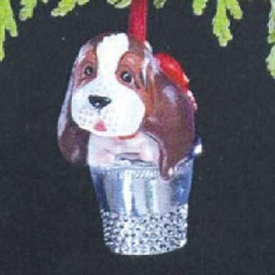 Hallmark 1989 DOG Ornament THIMBLE PUPPY - BEAGLE in a THIMBLE!