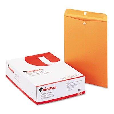 Universal 35270 Kraft Clasp Envelope  Side Seam  28lb  12 x