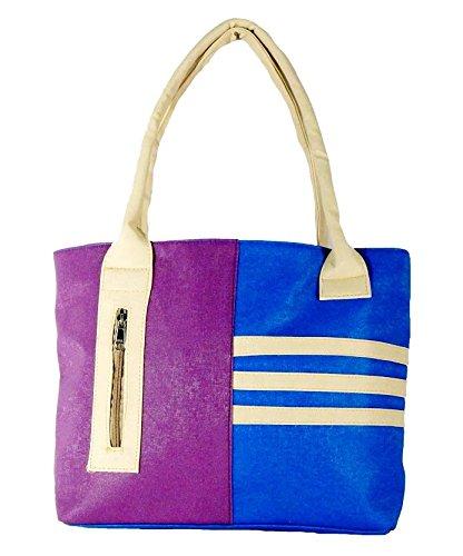 All Day 365 Women's Handbag Blue And Purple HBA09