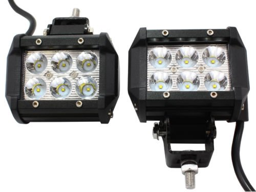 TMS® 2 x 18W 1260LM CREE Spot Led Work Light Bar For Off-road SUV Boat 4×4 Jeep Lamp