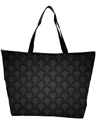 Snoogg Abstract Black Pattern Design Designer Waterproof Bag Made Of High Strength Nylon - B01I1KJRDG