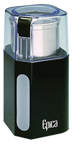Epica Electric Coffee Grinder & Spice Grinder -Stainless Steel Blades and Removable...