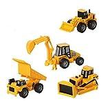 CAT Mini Machine Caterpillar Construction Toy Truck Mini Machine Set Of 4, Dump Truck, Bulldozer, Wh