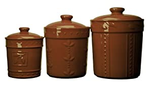 brown kitchen canister sets signature sorrento set of 3 canisters 16503