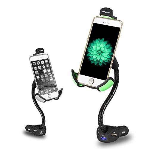 Car Mount Charger,Anypro Car Mount 3 USB Charger Cigarette Lighter Holder and 360 Degree Rotation Smartphone Holder