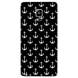 Snoogg Black And White Anchors Designer Protective Back Case Cover For Samsung Galaxy Note 4 Edge