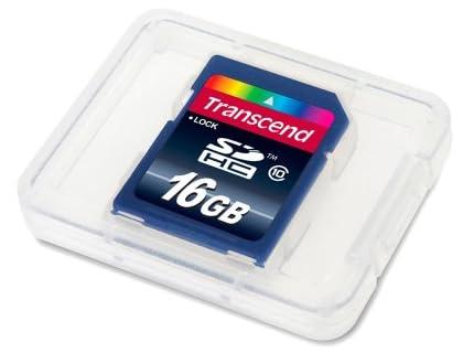 【Amazon.co.jp限定】Transcend SDHCカード 16GB Class10 (無期限保証) TS16GSDHC10E (FFP)