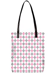 Snoogg Abstract Design White Pattern Womens Digitally Printed Utility Tote Bag Handbag Made Of Poly Canvas With...